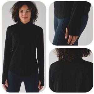 lululemon No Chill Mock Neck- long sleeve shirt 6
